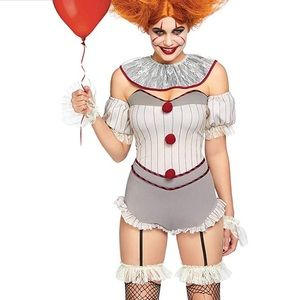Women's 4 Pc Killer Sewer Clown Costume